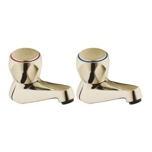 Deva Profile Bath Taps Gold