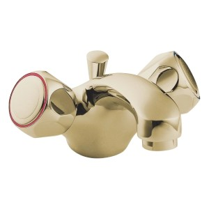 Deva Profile Mono Basin Mixer with Pop Up Waste Gold
