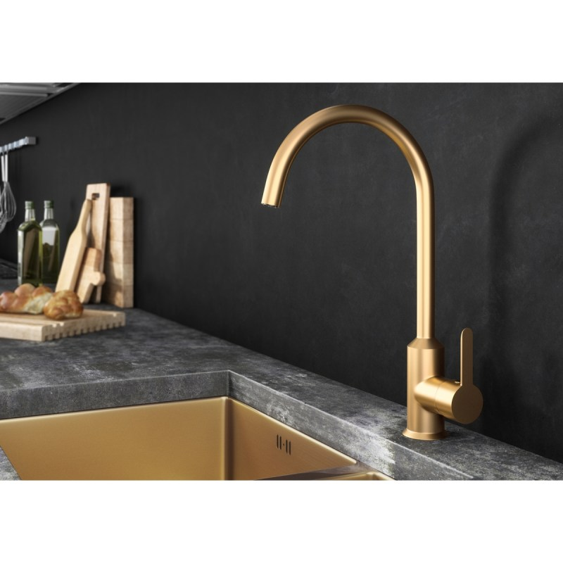 Ellsi Entice Kitchen Sink Mixer Tap Brushed Gold