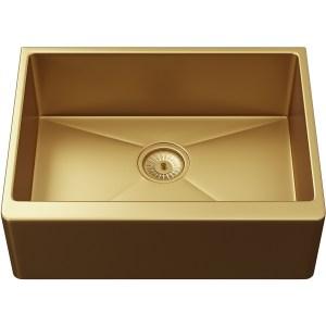 Ellsi Excel 1 Bowl Belfast Style Sink & Waste Gold Finish