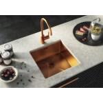 Ellsi Elite 1 Bowl Stainless Steel Kitchen Sink & Waste Copper
