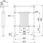 Essential Taurus Towel Warmer Central Radiator 945x645mm Chrome