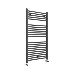 Essential Straight 1110x600mm Matt Black Towel Warmer