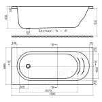 Essential Kingston Rectangular Bath 1500x700mm 0 Tap Holes White