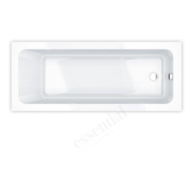 Essential Bromley Rectangular Bath 1700x700mm 0 Tap Holes White