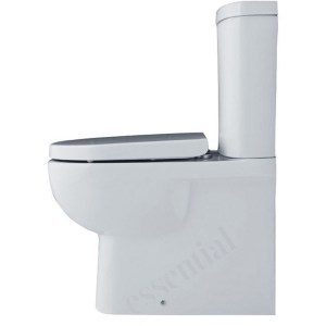 Essential Lily Back To Wall Pan & Cistern Pack No Seat White