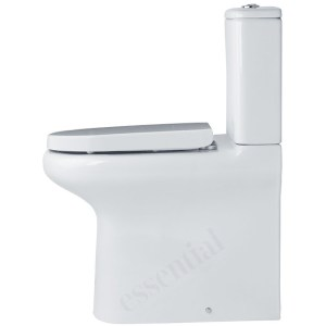 Essential Lily Comfort Height Back to Wall Pan, Cistern & Soft Close Seat