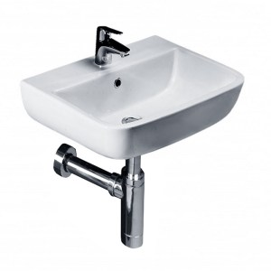 Essential Orchid 40cm Cloakroom Basin 1 Tap Hole