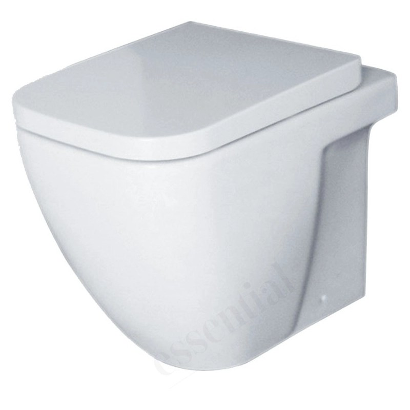 Essential Fuchsia Back To Wall Pan Only White