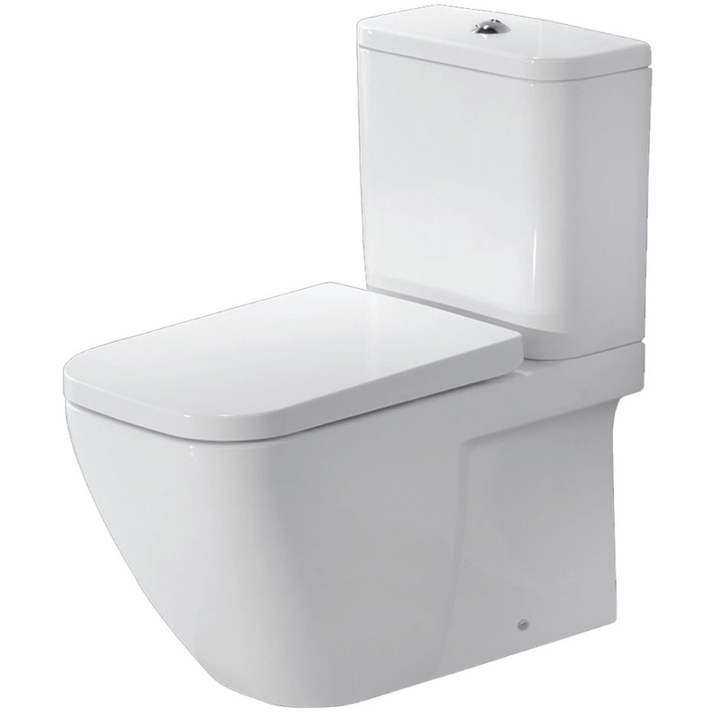 Essential Fuchsia Close Coupled Back to Wall Pan, Cistern & Soft Close Seat