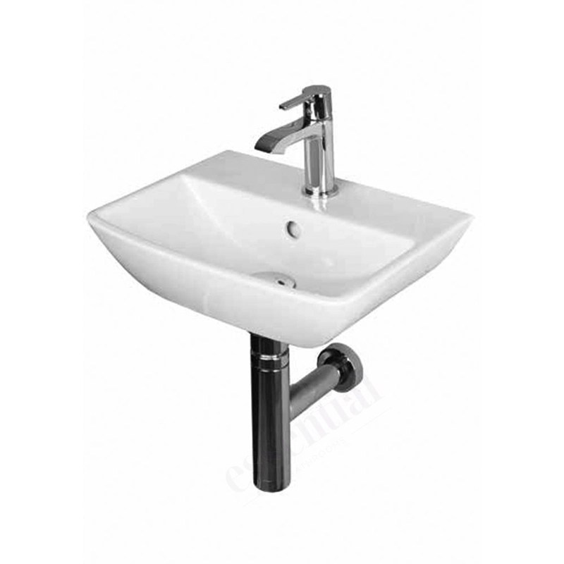 Essential Jasmine Handrinse Basin Only 400mm 1 Tap Hole White