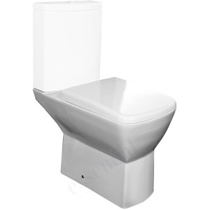 Essential Jasmine Close Coupled Pan Only White