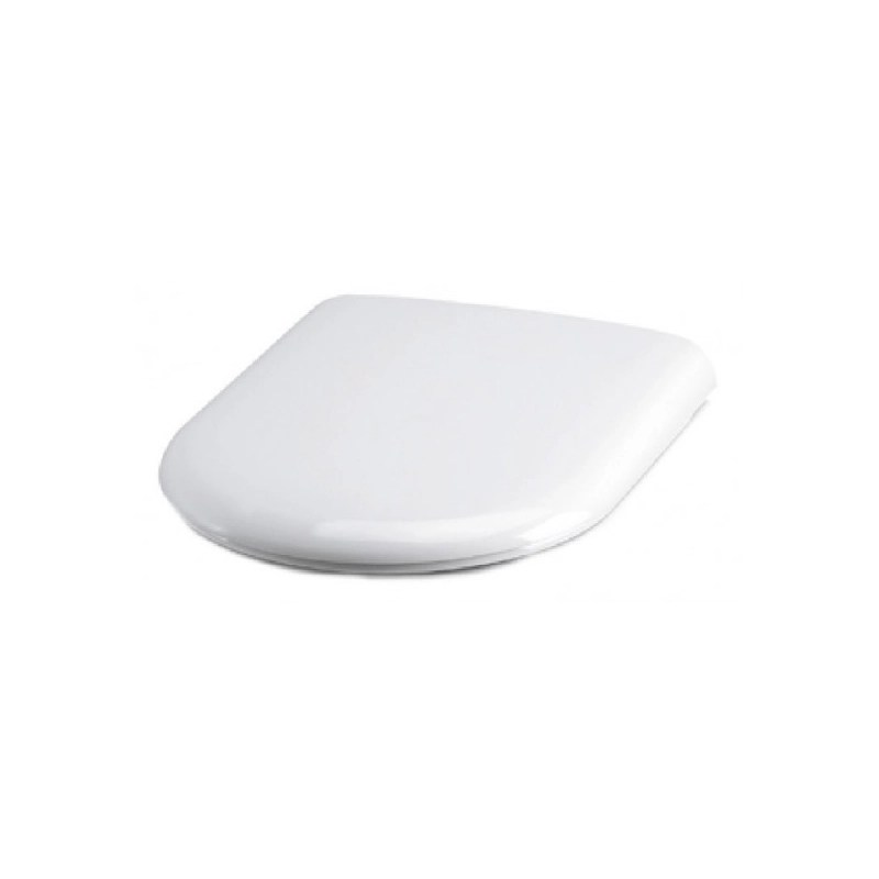 Essential Gem D Shape Soft Close Toilet Seat & Cover White