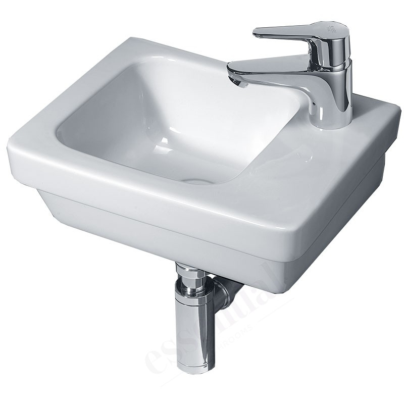 Essential Ivy Slimline Basin Only 360mm Right 1 Tap Hole White