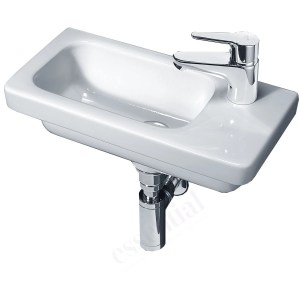 Essential Ivy Slimline Basin Only 450mm Right 1 Tap Hole White