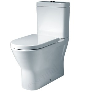 Essential Ivy Close Coupled Open Back Pan, Cistern & Soft Close Seat Pack