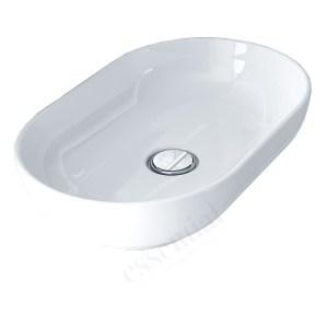 Essential Lavender Oval Vessel Basin 550mm 0 Tap Hole White