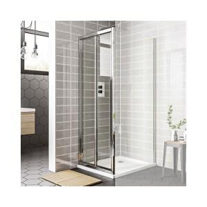 Essential Spring Bi-Fold Shower Door 900mm