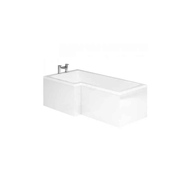 Essential Vermont L Shape Showerbath Front Bath Panel 1700mm White