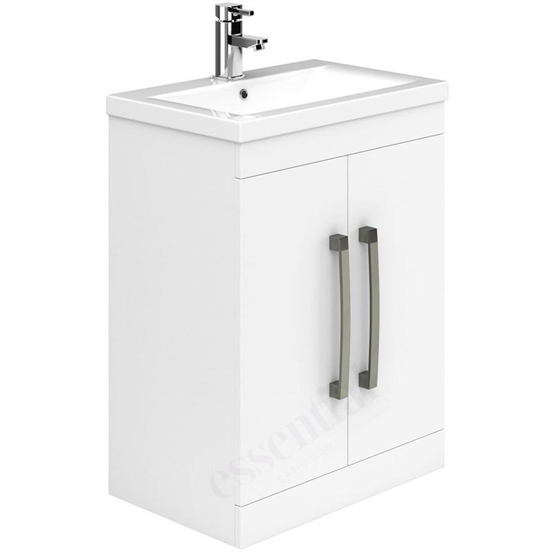 Essential Nevada 600mm 2 Door Floor Basin Unit & Basin White