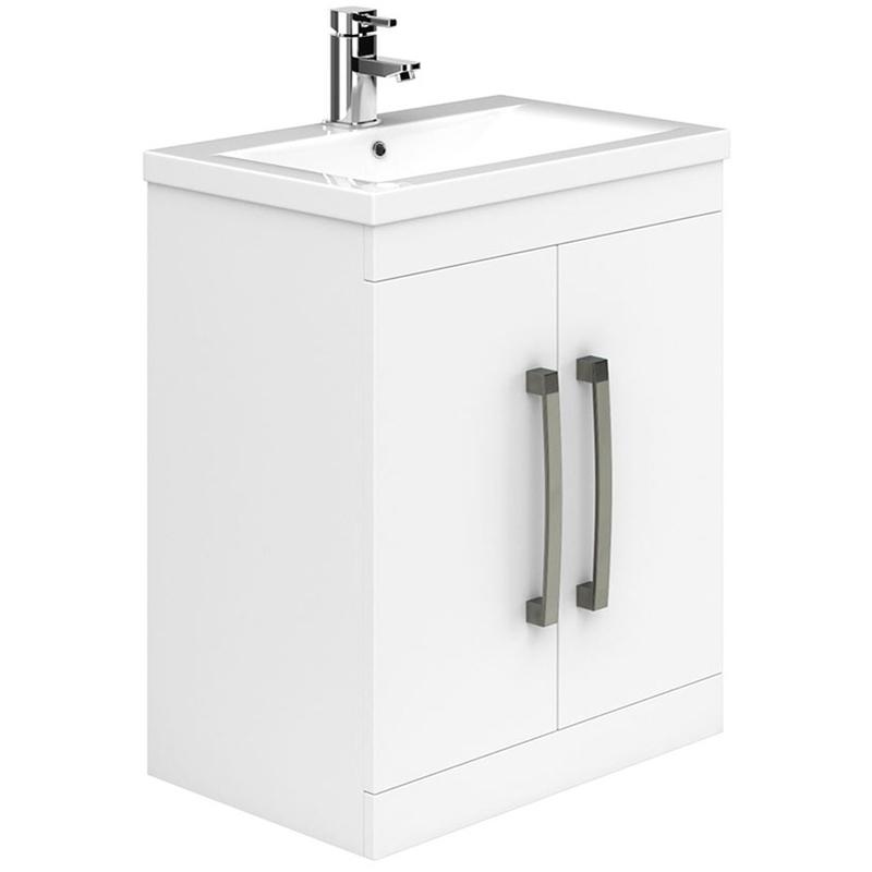 Essential Nevada 800mm 2 Door Floor Basin Unit & Basin White