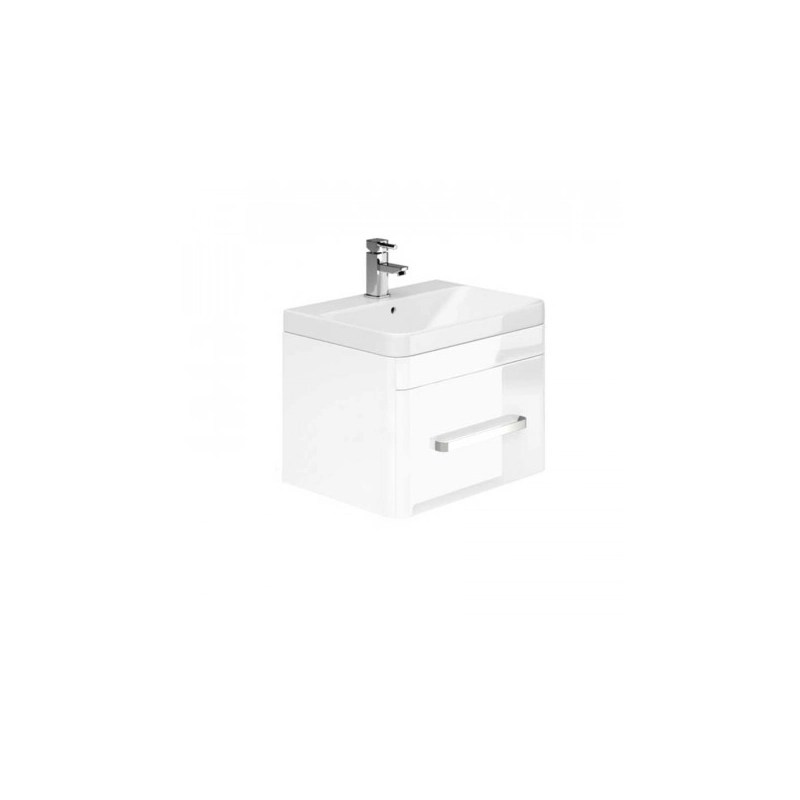 Essential Vermont Wall Unit & Basin 1 Drawer 800mm White