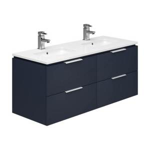 Essential Dakota 1200mm 4 Drawer Wall Unit & Basin Marine Blue