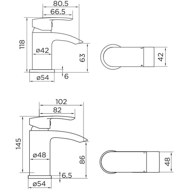 Essential Portobello Mini Mono Basin Mixer & Click Waste