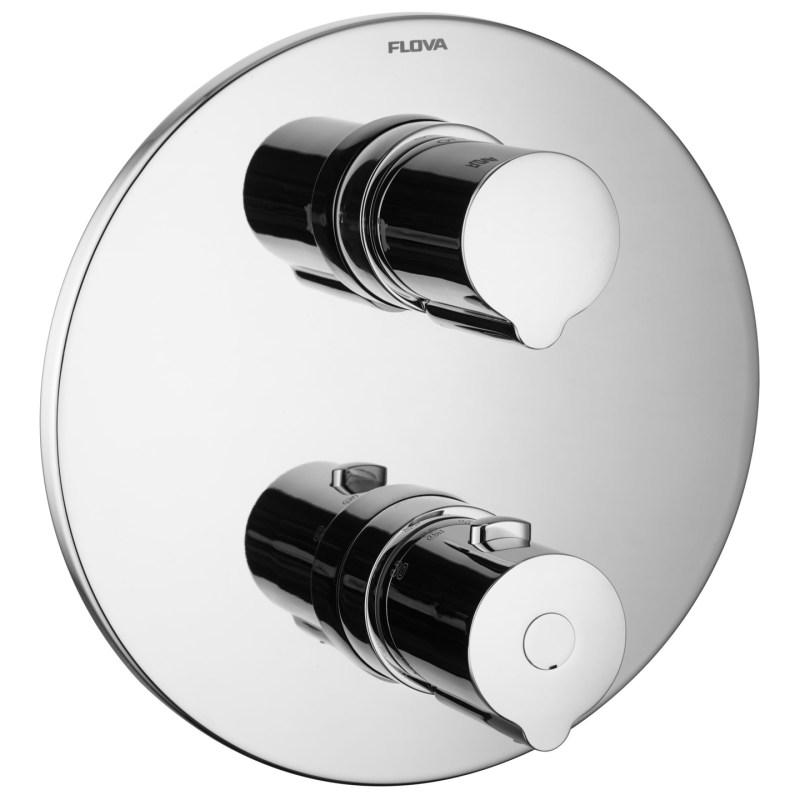 Flova Allore Slim Round 3 Outlet Shower Trim Kit Only