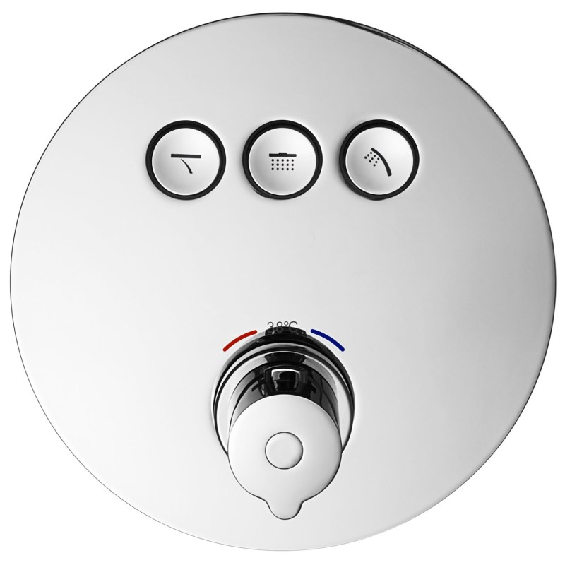 Flova Allore Concealed Thermostatic GoClick 3 Outlet Trim Only