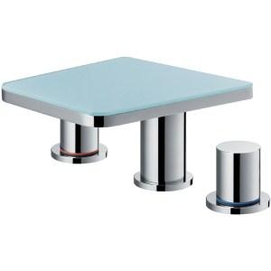 Flova Annecy 3-Piece Basin Mixer with Glass Shelf & Waste