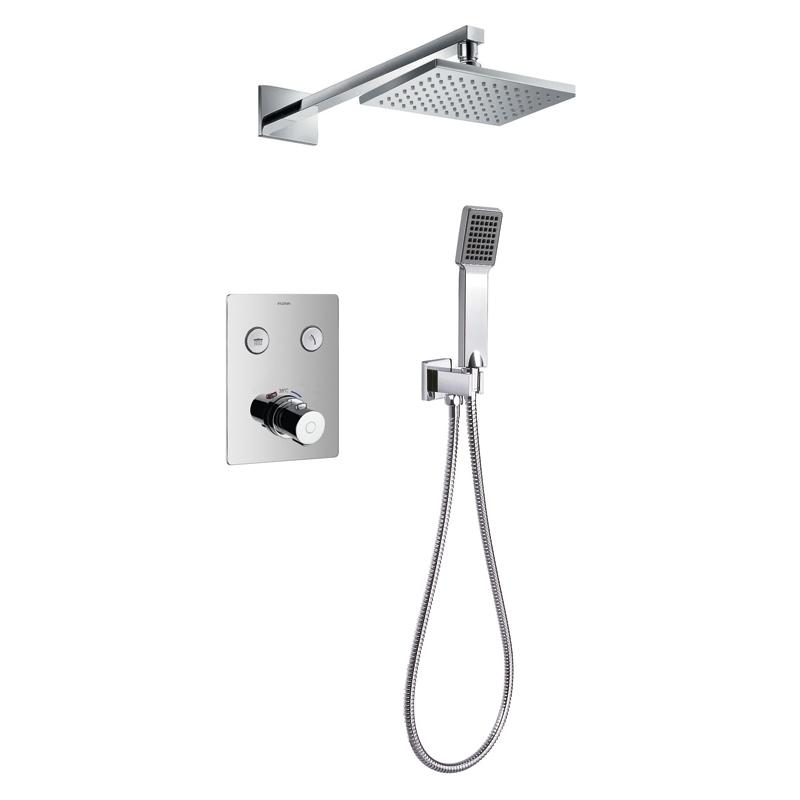 Flova Cascade GoClick Thermostatic 2 Outlet Shower Set
