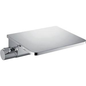 Flova Annecy Wall Thermostatic Bath Shower Mixer & Chrome Shelf