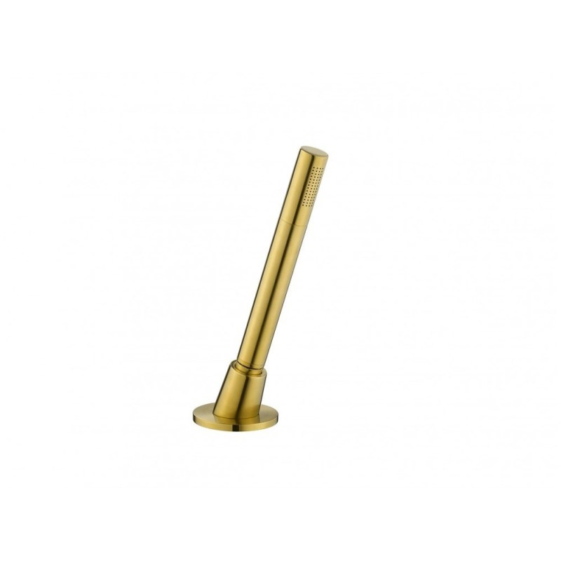 Flova Round Pull Out Shower Set Brushed Brass