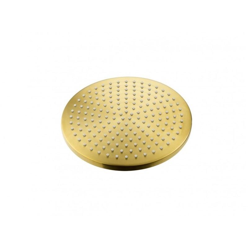 Flova 250mm Design Brass Rainshower Brushed Brass
