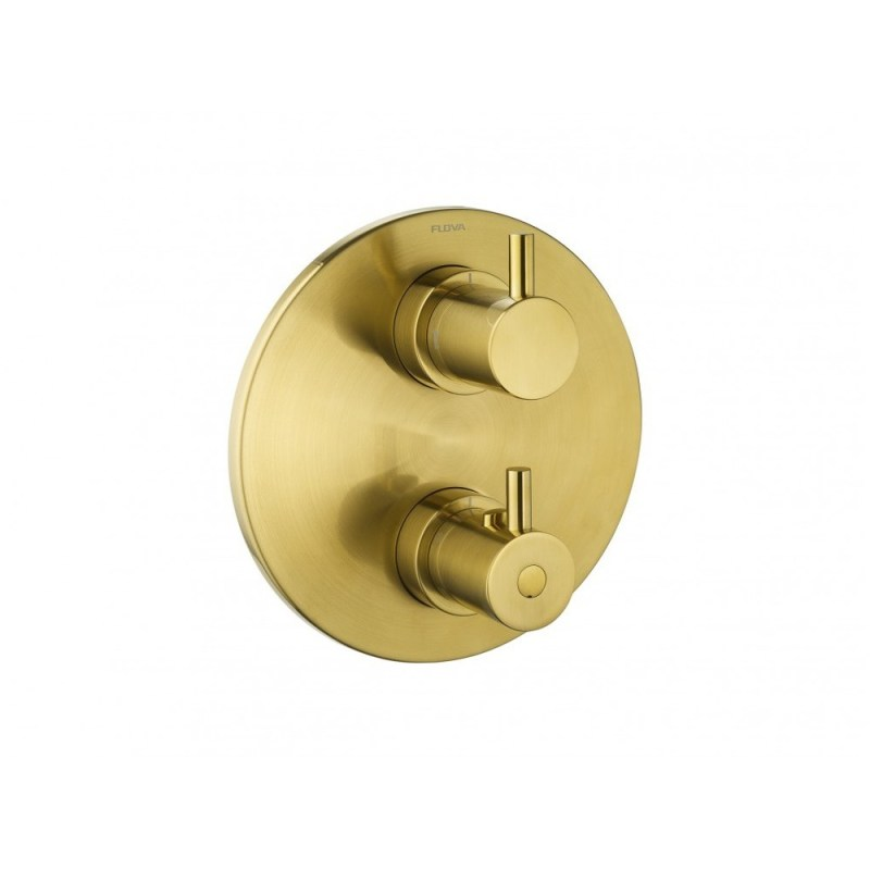 Flova Levo Round 2-Way Trim Kit Brushed Brass
