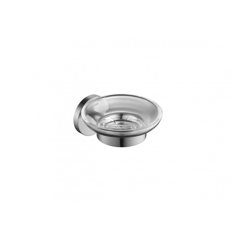 Flova Coco Glass Soap Dish Brushed Nickel