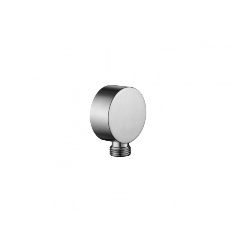Flova Round Wall Outlet Elbow Brushed Nickel