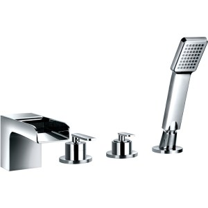 Flova Cascade 4-Piece Bath Shower Mixer with Handset & Hose