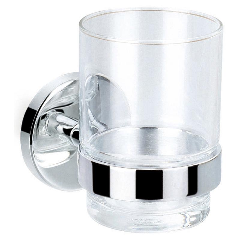 Flova Coco Single Glass Tumbler & Brass Holder
