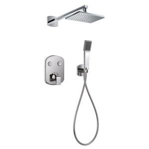 Flova Dekka GoClick Thermostatic 2 Outlet Shower Set