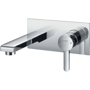 Flova Essence Wall Mounted Single Lever Basin Mixer with Waste