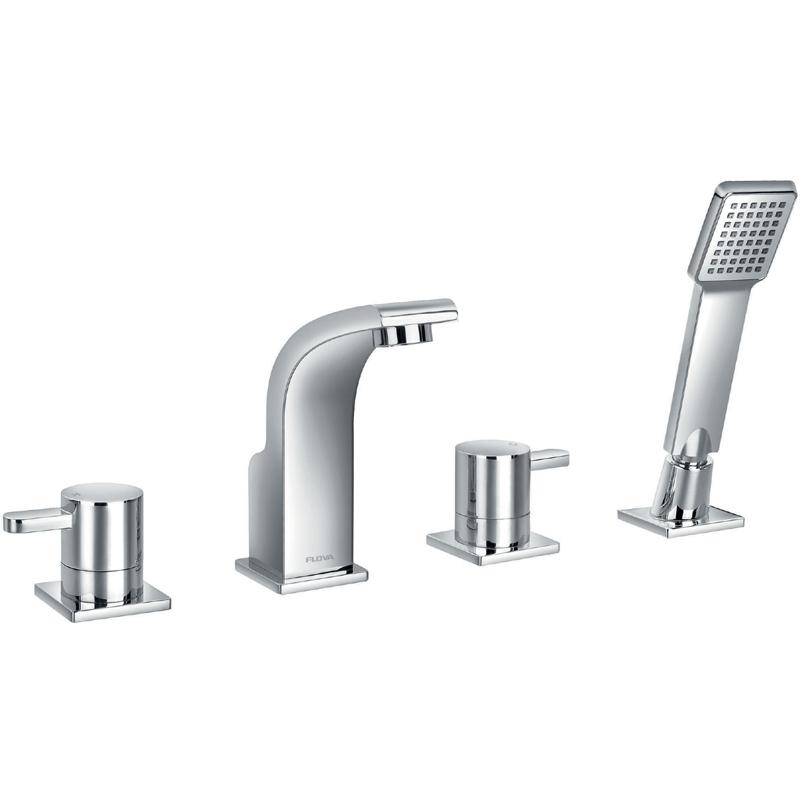 Flova Essence 4-Piece Bath Shower Mixer with Handset & Hose