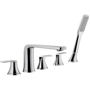 Flova Fusion 5-Hole Deck Mounted Bath Shower Mixer