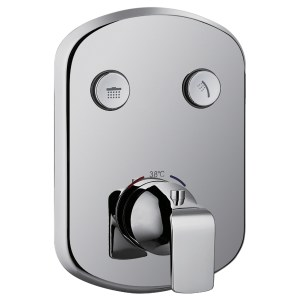 Flova Fusion Thermostatic Concealed 2 Button GoClick Shower Valve