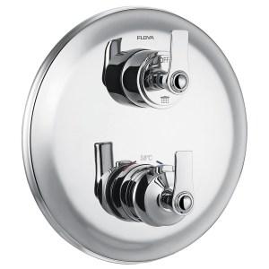Flova Liberty Chrome Slim Single Outlet Shower Trim Kit Only