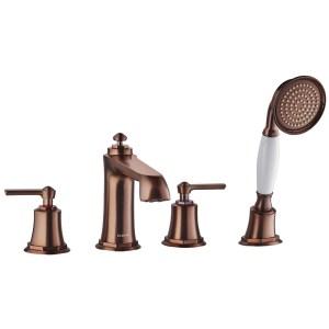 Flova Liberty 4-Hole Deck Mounted Bath Shower Mixer Bronze