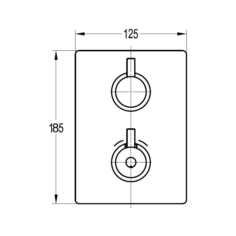 Flova Levo Slim Square Single Outlet Shower Trim Kit Only