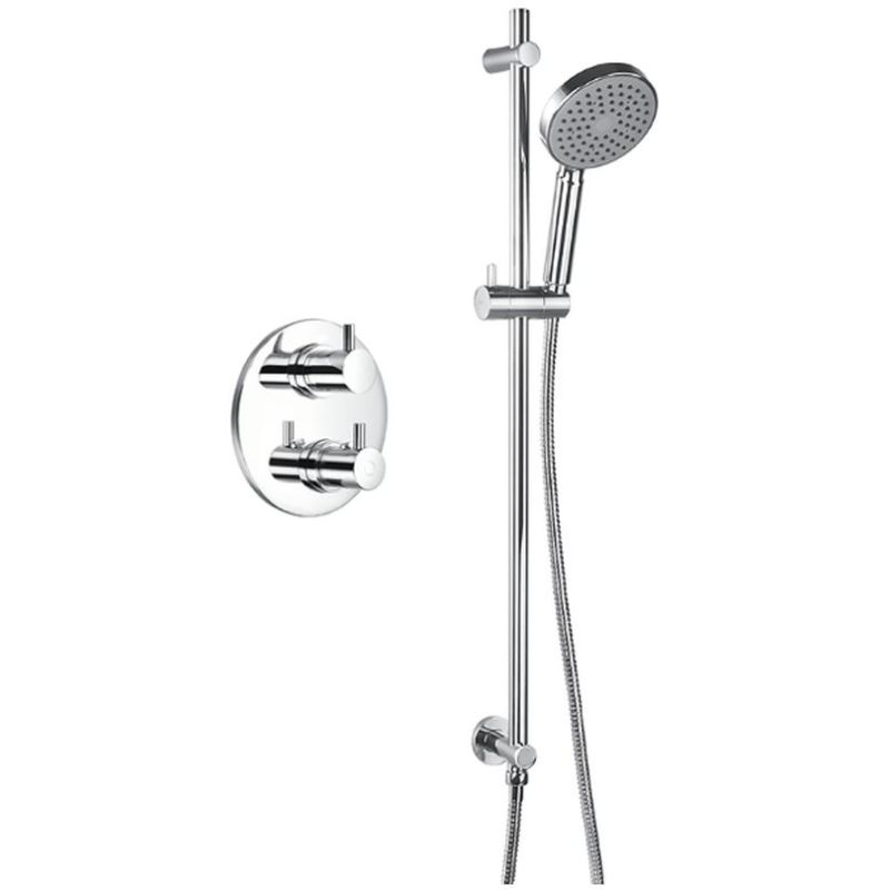 Flova Levo Thermostatic 1 Outlet Shower Valve with Kit Round
