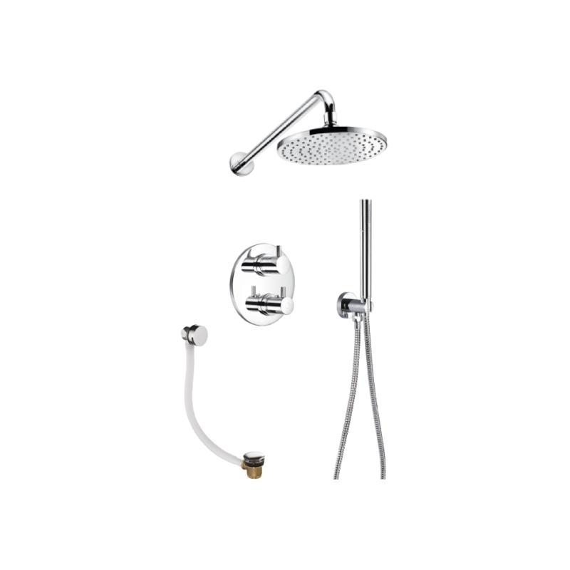 Flova Levo Thermostatic 3 Outlet Shower Set Round